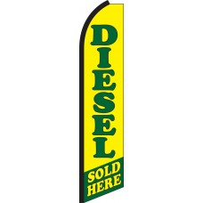 Diesel Sold Here Swooper Feather Flag