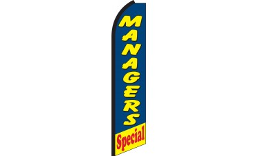 Managers Special Swooper Feather Flag