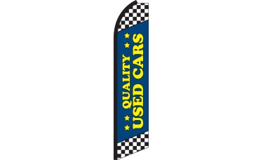 Quality Used Cars Blue Swooper Feather Flag