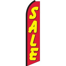Sale (Red & Yellow) Swooper Feather Flag