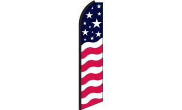 Stars & Bars Swooper Feather Flag