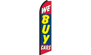 We Buy Cars Swooper Feather Flag