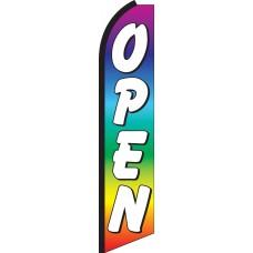 Open Rainbow Swooper Feather Flag