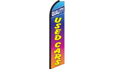 Quality Used Cars Rainbow Swooper Feather Flag