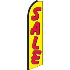 Sale (Yellow & Red) Swooper Feather Flag