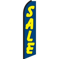 Sale (Blue & Yellow) Swooper Feather Flag