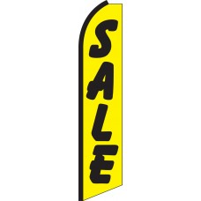 Sale (Yellow & Black) Swooper Feather Flag