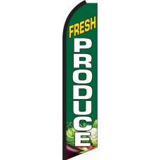 Fresh Produce Swooper Feather Flag