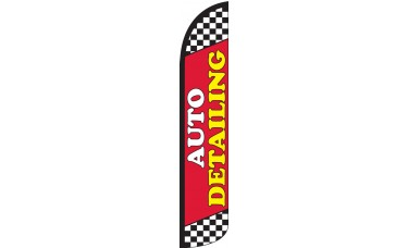 Auto Detailing Wind-Free Feather Flag