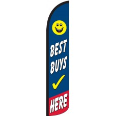 Best Buys Here Wind-Free Feather Flag