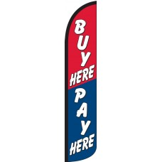 Buy Here Pay Here Wind-Free Feather Flag
