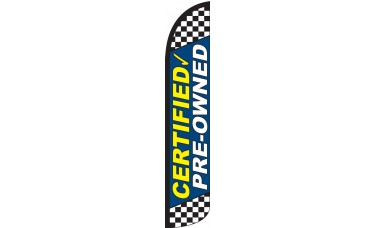 Certified Pre-Owned Blue Wind-Free Feather Flag