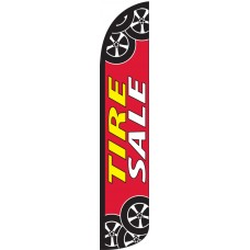 Tire Sale Wind-Free Feather Flag