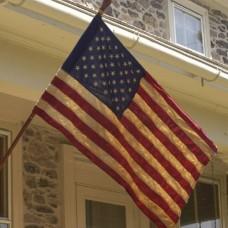 Antique Cotton American Flag