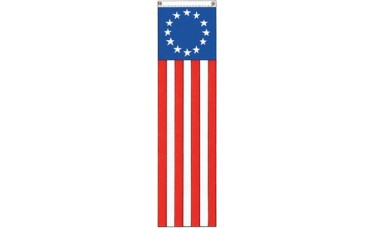 "Betsy Ross 13 Star Pulldown Banner 8' x 20"""
