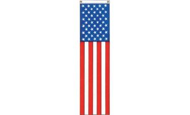 "USA 50 Star Pulldown Banner 8' x 20"""