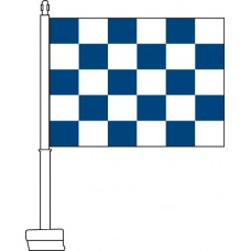 Checkered (Blue & White) Car Flag