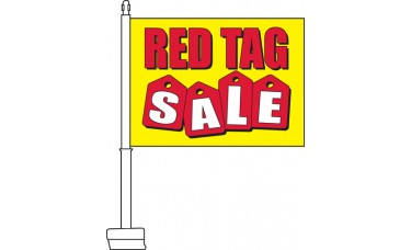 Red Tag Sale Car Flag