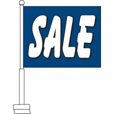 Sale (Blue & White) Car Flag