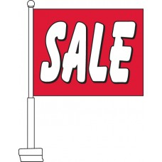 Sale (Red & White) Car Flag