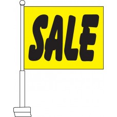 Sale (Yellow & Black) Car Flag