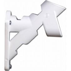 1 Inch White Cast Aluminum Bracket (2 Positions)