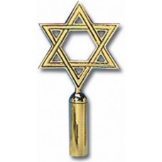 Polished Brass Star Of David Indoor Flagpole Ornament