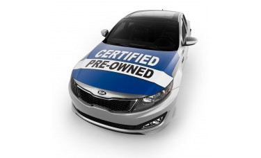 Certified Pre-Owned Blue Hood Cover