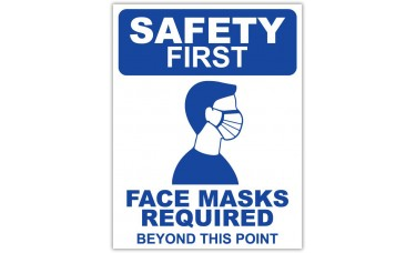 "Face Masks Required - 12"" x 18"" COVID-19 Prevention Sign"