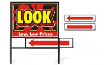 Directional Curb Sign Rider (6in. x 24in.)