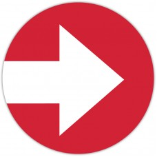 "Red Arrow Floor Stickers - 12"" Circle"