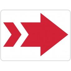 "Red Arrow Floor Stickers - 16.5"" x 12"" Rectangle"
