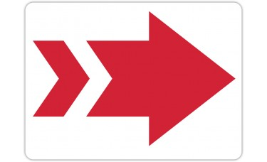 "Red Arrow Floor Stickers - 16.5"" x 12"" Rectangle"