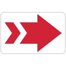 "Red Arrow Floor Stickers - 12.5"" x 8"" Rectangle"