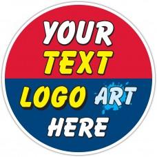 Custom Printed Full Color Floor Stickers