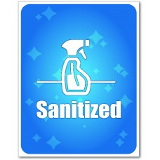 """Sanitized Table Signs - 5.75"""" x 7.5"""""""