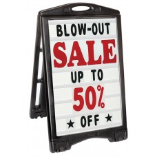 A-Plus A-Frame Sidewalk Changeable Message Sign with Deluxe Letters Set