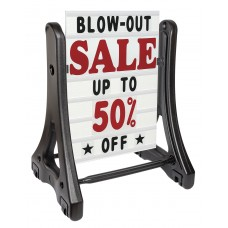 Swinger-Plus Sidewalk Changeable Message Sign with Deluxe Letters Set