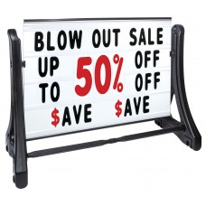 Swinger-Plus Roadside Changeable Message Sign with Deluxe Letters Set