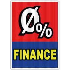 0% Finance Red/Blue Underhood Sign