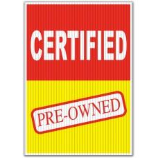 Certified Pre-Owned Underhood Sign