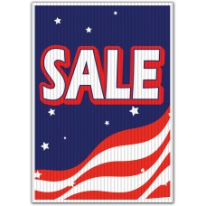 Sale Patriotic Underhood Sign