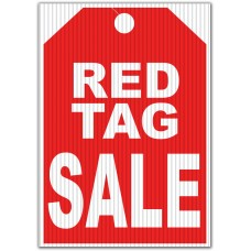 Red Tag Sale Underhood Sign