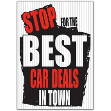 Stop For The Best Car Deals In Town Underhood Sign