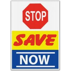 Stop Save Now Underhood Sign