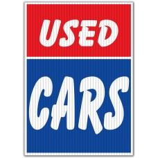 Used Cars Red/Blue Underhood Sign