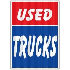 Used Trucks Red/Blue Underhood Sign