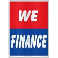 We Finance Red/Blue Underhood Sign