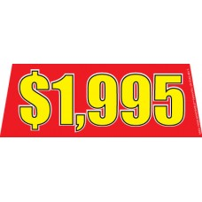 Price Red/Yellow Windshield Banners
