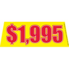 Price Yellow/Red Windshield Banners